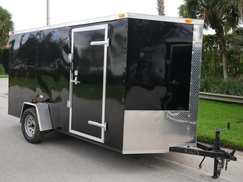 *108044* 6x12 Enclosed Cargo & Storage Trailer |Black Haulers & Trailers 6 x 12