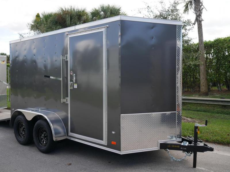 *108113* 6x12 Enclosed Cargo Trailer 1 Piece Aluminum Roof & Tandem Axle 6 x 12 | EV6-12T3-R