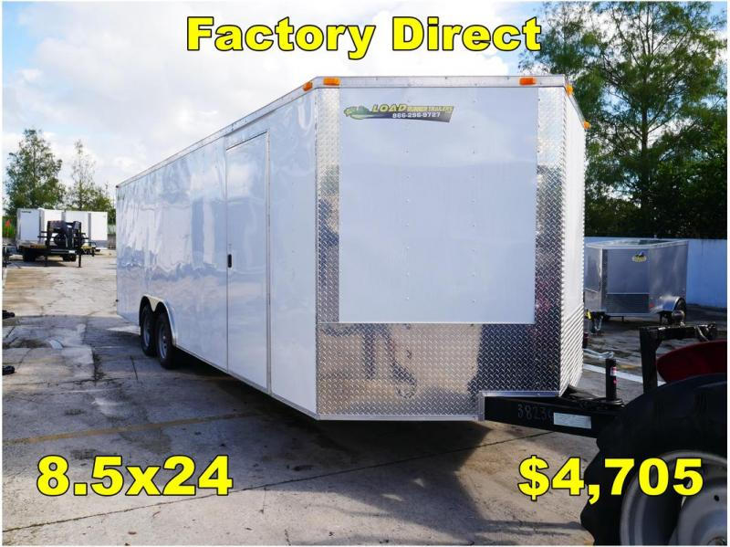 *FD33 ORL* 8.5x24 FACTORY DIRECT! Enclosed Cargo Trailer 8.5 x 24