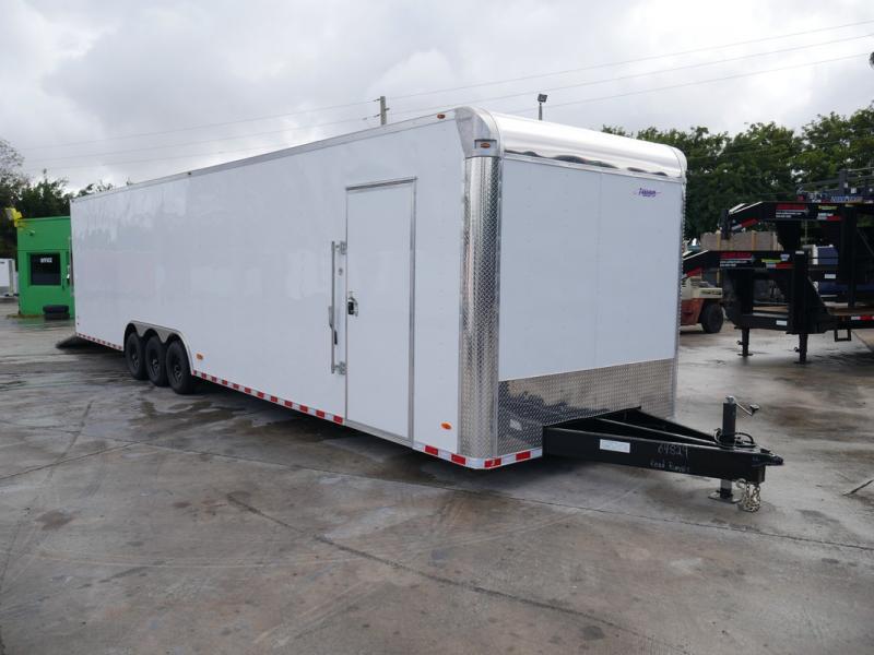 *108357* 8.5x36 Enclosed 2 Car Hauler Cargo Trailer 8.5 x 36