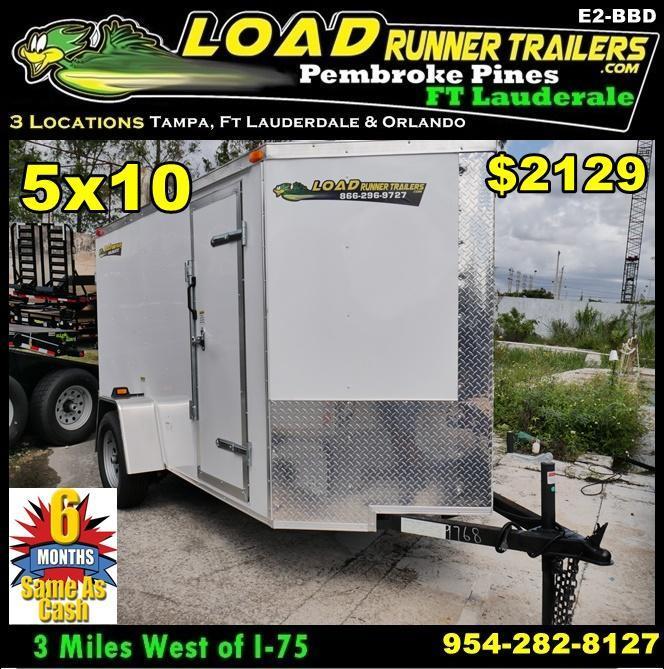 *E2-BBD* 5x10 Enclosed  Trailer Cargo Trailers 5 x 10 | EV5-10S3-D