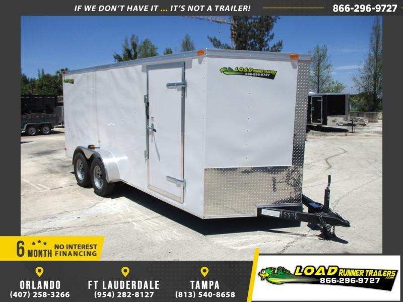 *108848* 7x16 Enclosed Cargo Trailer |LRT Tandem Axle Trailers 7 x 16