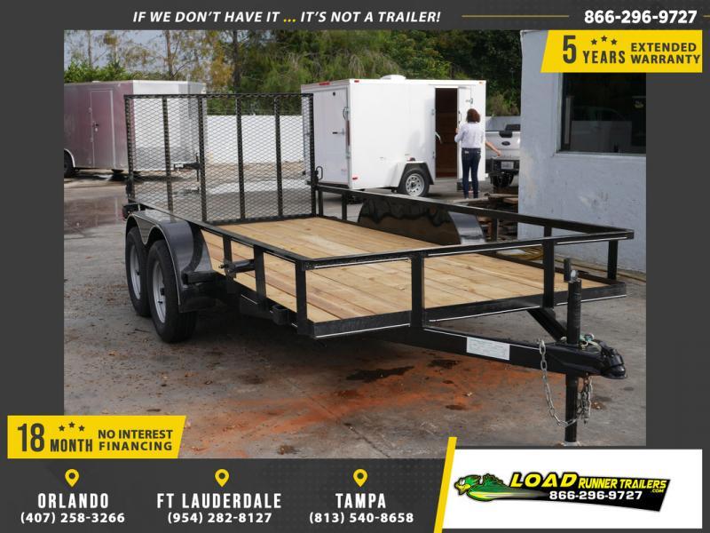 *108019* 6x14 Utility|Lawn|ATV Trailer |Tandem Axle Trailers 6 x 14