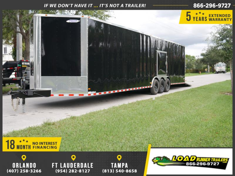 *EV36B* 8.5x36 Enclosed Cargo Trailer Car Hauler Trailers 8.5 x 36 | EV8.5-36TT7-R