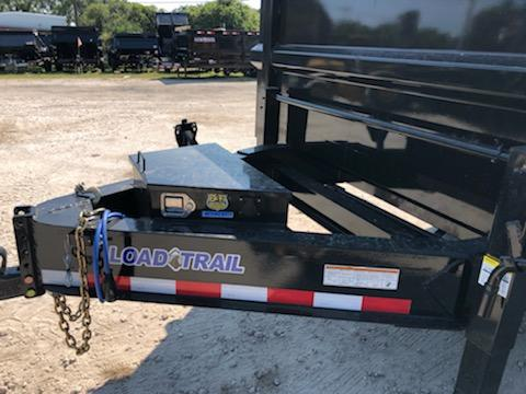 "*107789* 8x16 Load Trail Triple Axle Dump Trailer w/4' Sides LRT Trailers | 48"" 8 x 16 