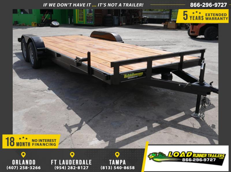 *108655* 7x20 Car Trailer |LRT Tandem Axle Trailers 7 x 20