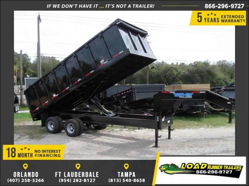 *108152* 8x20 Gooseneck Dump Trailer |LRT Haulers & Trailers 8 x 20