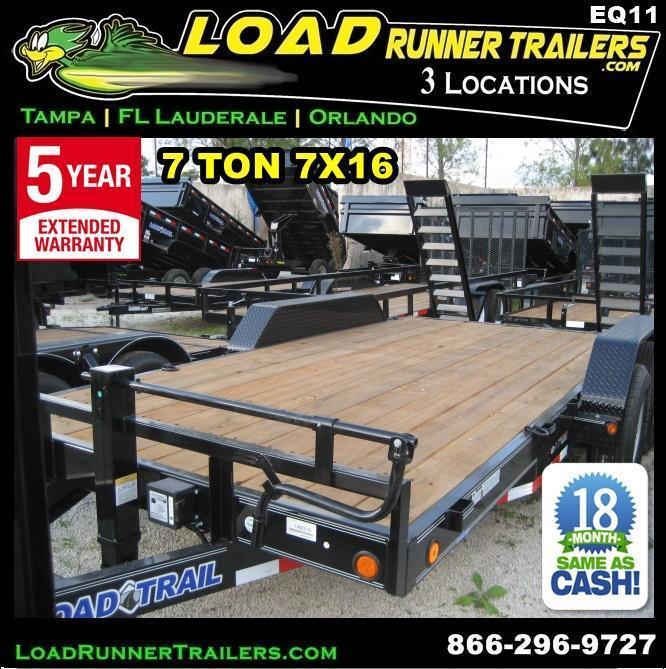 *EQ11* 7x16 7 TON Equipment & Car Hauler Trailer |LR Trailers 7 x 16 | EQ83-16T7-KR