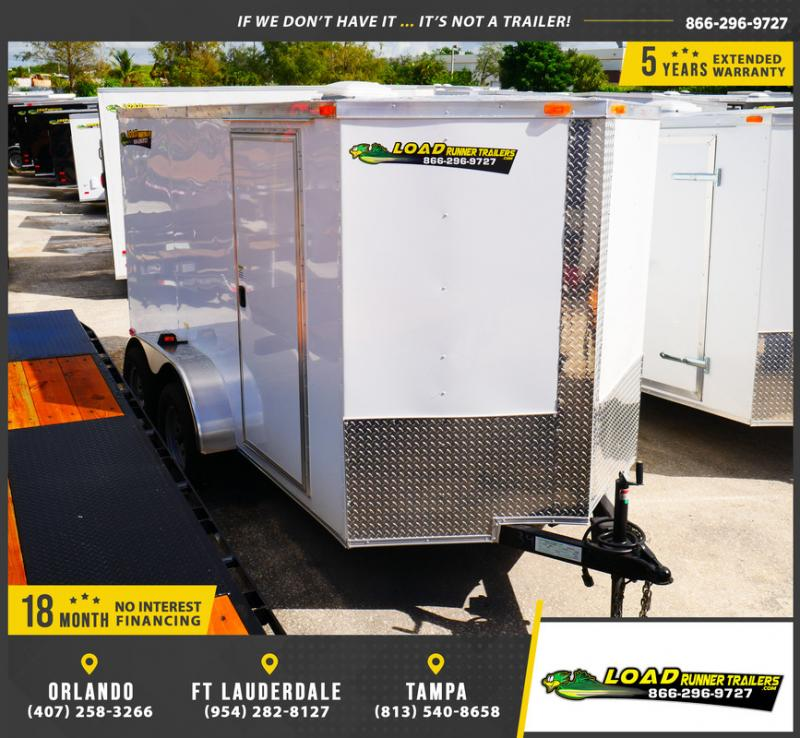 *E5-BB* 6x12 Enclosed Trailer Cargo L R Box Lawn Trailers 6 x 12 | EV6-12T3-R
