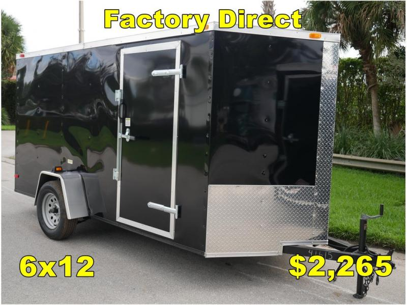 *FD07 TPA* 6x12 FACTORY DIRECT!| Enclosed Cargo Trailer |Trailers 6 x 12
