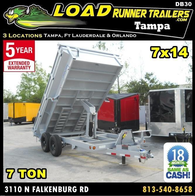 *DB30* 7x14 7 TON Dump Trailer KING/Flared Sides Trailers 7 x 14 | DK83-14T7-24S