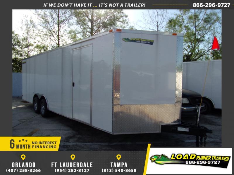 *106962* 8.5x24 Enclosed Cargo Trailer |LRT Tandem Axle Trailers 8.5 x 24