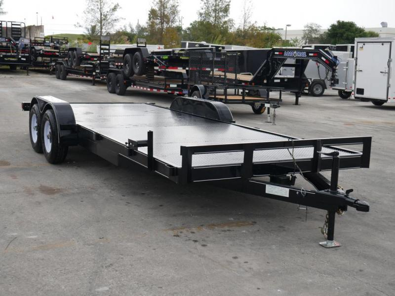 *108029* 7x20 Car Hauler Trailer |LRT Tandem Axle Trailers 7 x 20