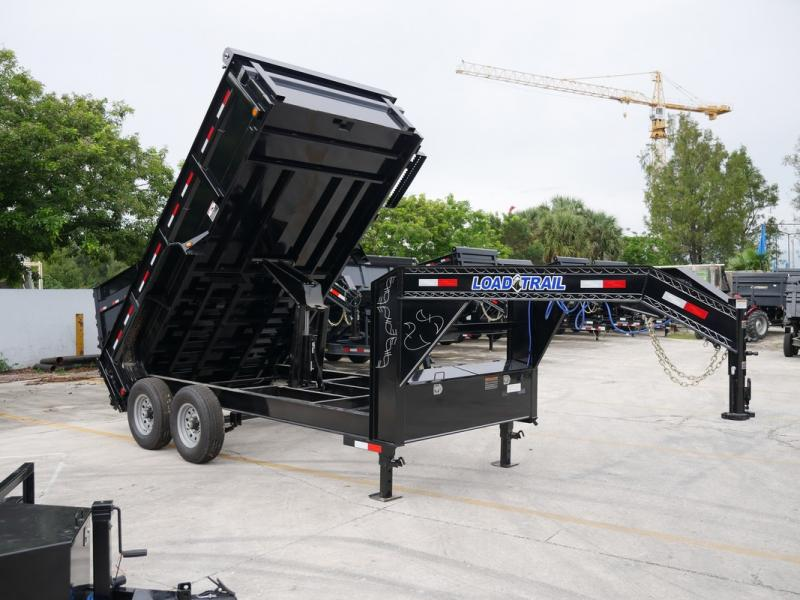 *107801* 7x14 Gooseneck Dump Trailer w/8A Charger |LRT Tandem Axle Trailers 7 x 14