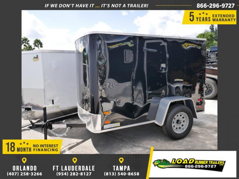 *107748* 5x8 Black Enclosed Cargo Trailer |LRT Haulers & Trailers 5 x 8