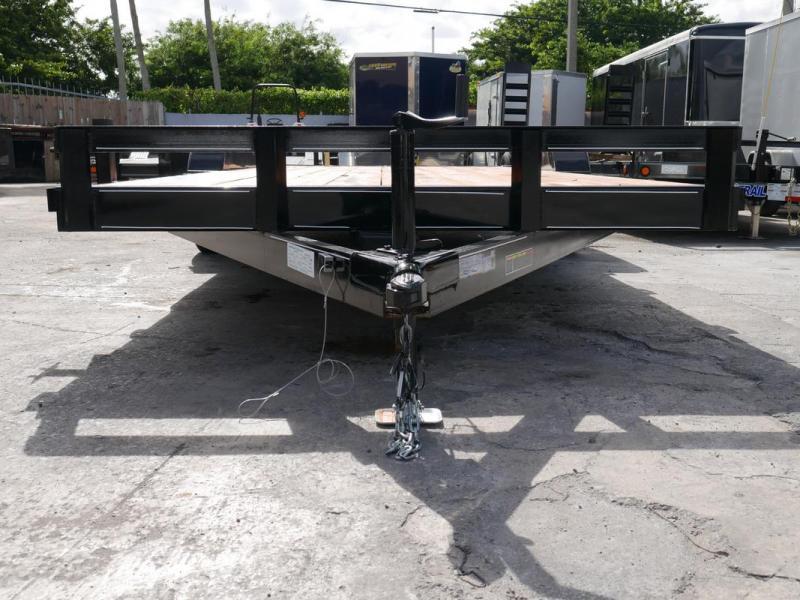 *108026* 7x20 Car Hauler Trailer w/Slide In Ramps  LRT Tandem Axle Trailers 7 x 20