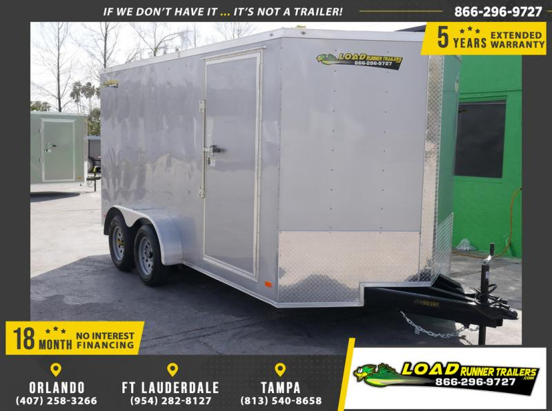 *108901* 7x14 Enclosed Cargo Trailer |LRT Tandem Axle Trailers 7 x 14