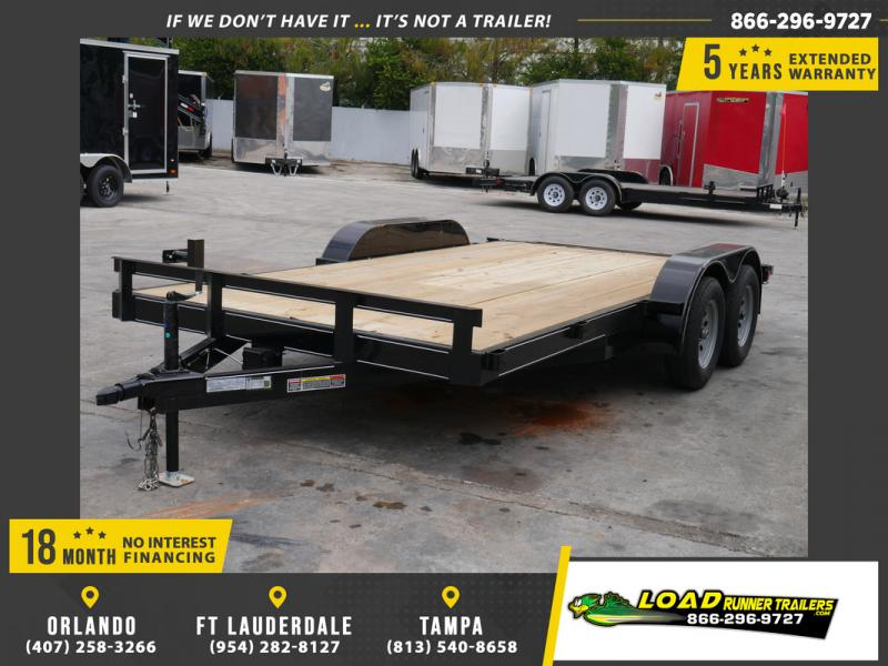 *108022* 7x16 Car Hauler Trailer |LRT Tandem Axle Trailers 7 x 16