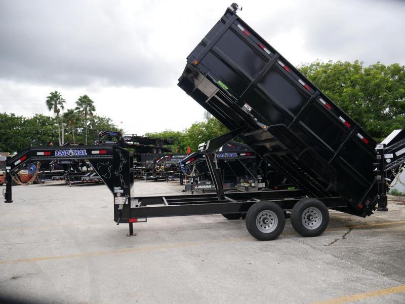 "*107783* 7x16 Gooseneck Dump Trailer w/4' Sides  LOAD TRAIL Dump Trailers 48"" 7 x 16"