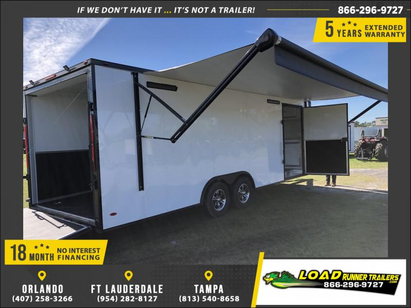*108203* 8.5x24 Enclosed Cargo Trailer |Race Car Trailers 8.5 x 24