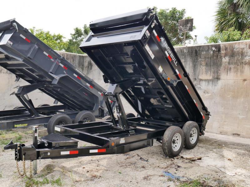 *107539* 6x12 IRON BULL Dump Trailer |LRT Tandem Axle Trailers 6 x 12 | D72-12T5-24S