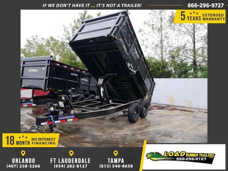 *108032* 7x14 Dump Trailer |LRT Tandem Axle Trailers 7 x 14