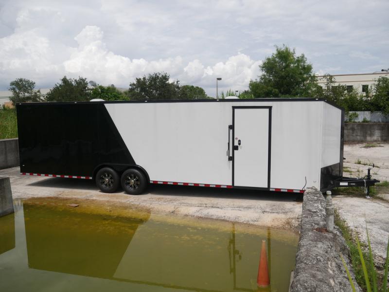 *E18* 8.5x30 Enclosed Car Hauler Trailer Cargo Trailers 8.5 x 30 | EV8.5-30T7-R