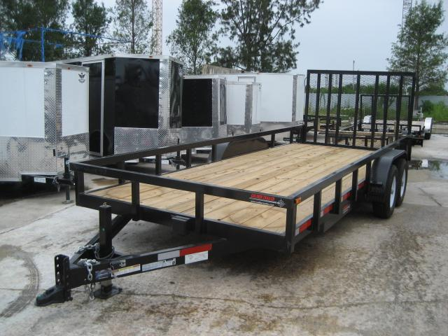 *U36* 7x20 Utility Trailer|HEAVY DUTY Tandem 5200# Axles w/Ramp 7 x 20 | U83-20T5-2B-TR
