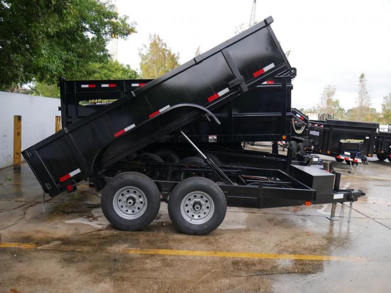 *108303* 6x12 Dump Trailer  LRT Tandem Axle Trailers 6 x 12