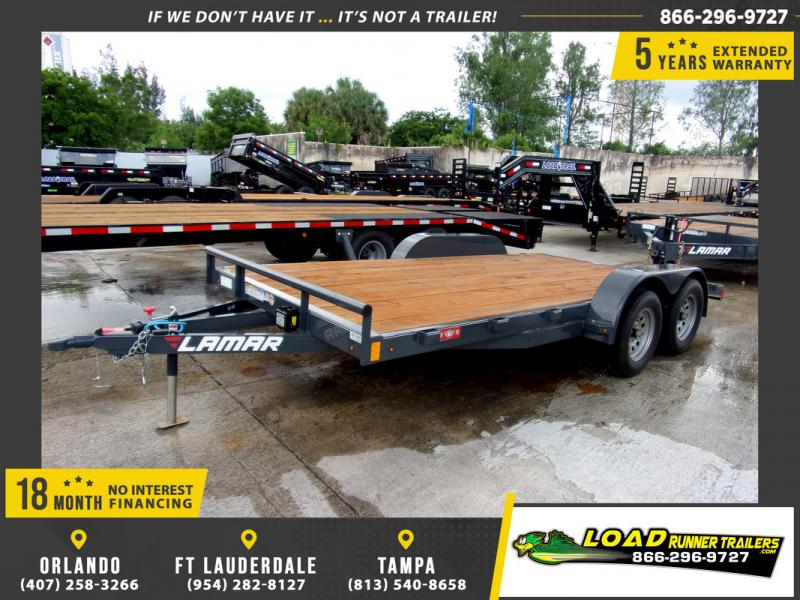 *109279* 7x16 Car Trailer |LRT Tandem Axle Trailers 7 x 16