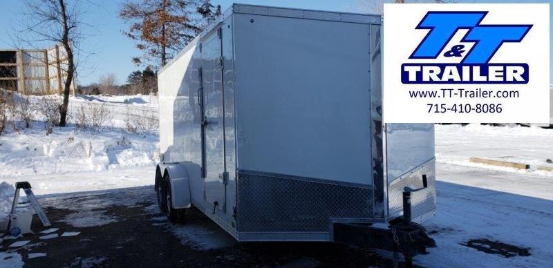 7 x 16 V-Nose Enclosed Cargo Trailer