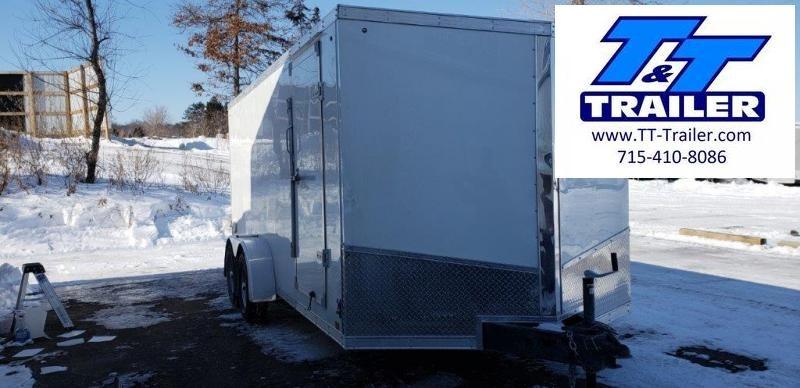 FOR RENT - 7 x 16 V-Nose Enclosed Cargo Trailer