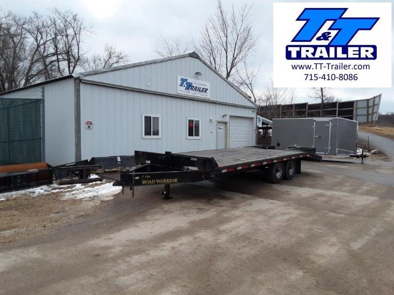 "Used 2017 Load Warrior 102"" x 22' Deckover Trailer"