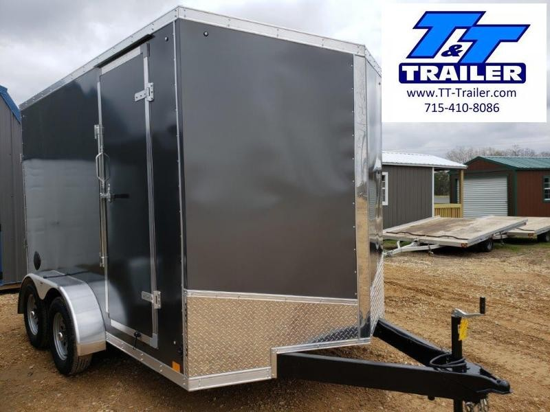 7 x 12 V-Nose Enclosed Cargo Trailer