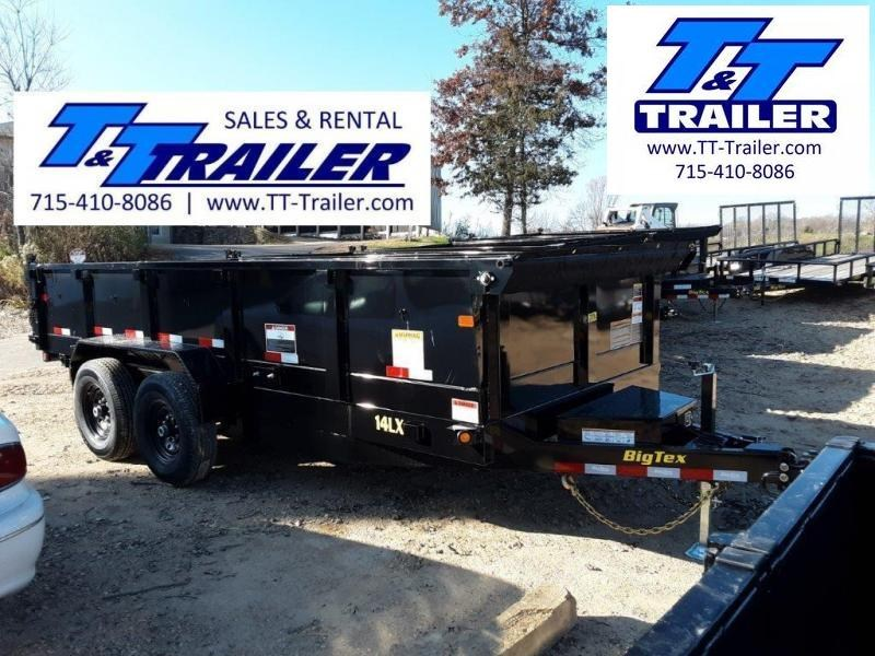 """FOR RENT - 83"""" x 12' Dump Trailer w/ 2' High Sides"""