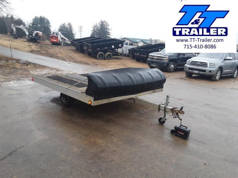 Used 1995 Triton Lite 2 Place Aluminum Snowmobile Trailer