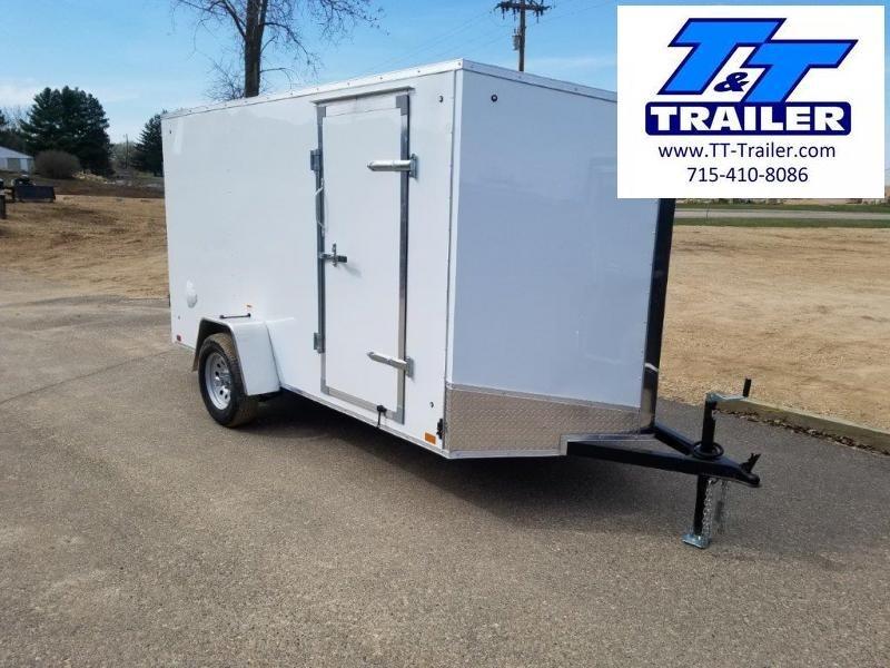 6 x 12 V-Nose Enclosed Cargo Trailer