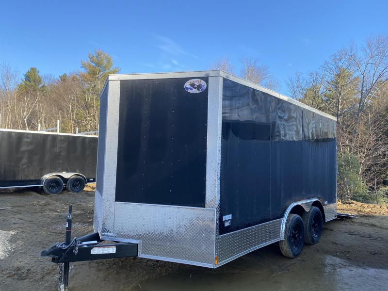 2020 Quality Cargo 8.5x14 WALK ON ROOF PACKAGE BLACK ON BLACK Enclosed Cargo Trailer