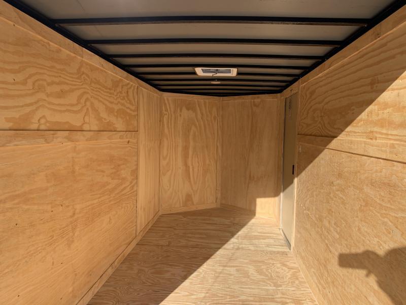 2020 Freedom Trailers 6x12TA White Rear Ramp Enclosed Cargo Trailer