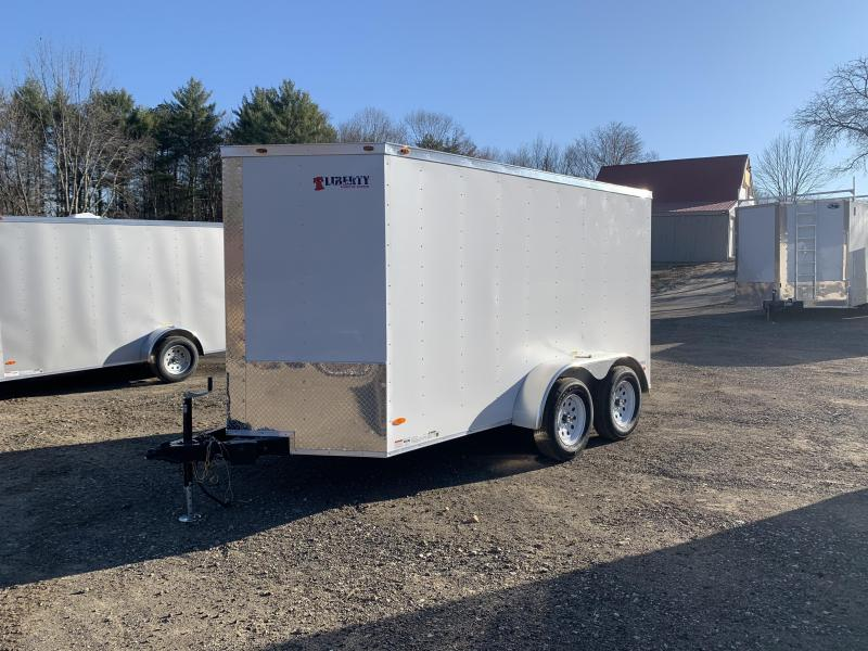2020 Freedom Trailers 6x12TA White Rear Ramp Enclosed Cargo Trailer