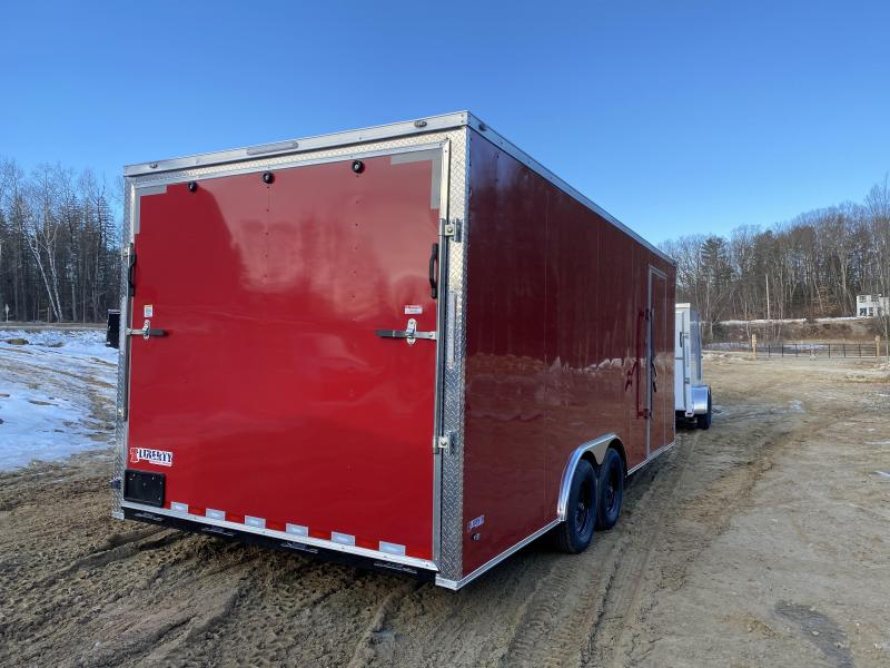 2020 Freedom Trailers 8.5X20 RED EXTRA HEIGHT HD ROOF Enclosed Cargo Trailer