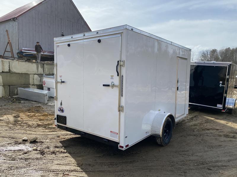 2020 Quality Cargo 7x12 RAMP EXTRA HEIGHT & BLACK WHEELS Enclosed Cargo Trailer