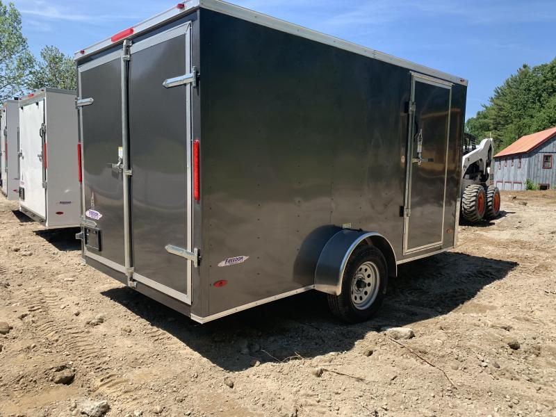 2019 Freedom Trailers 7X12 .30 METAL HD ROOF SUPPORTS DOUBLE DOORS Enclosed Cargo Trailer
