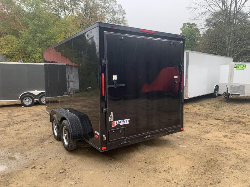 2020 Freedom Trailers 7x14 BLACKOUT EXTRA HEIGHT ALUMINUM WHEELS Enclosed Cargo Trailer