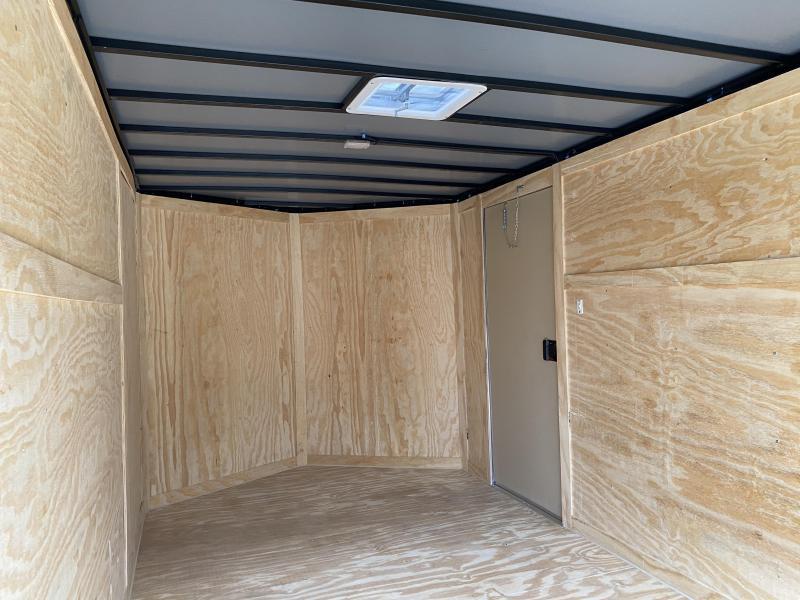 2020 Freedom Trailers 7x12 BRAKES/HD ROOF/BARLOCK Enclosed Cargo Trailer