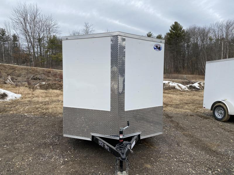 2020 Quality Cargo 7x12 BRAKES BLACK WHEELS & RAMP Enclosed Cargo Trailer