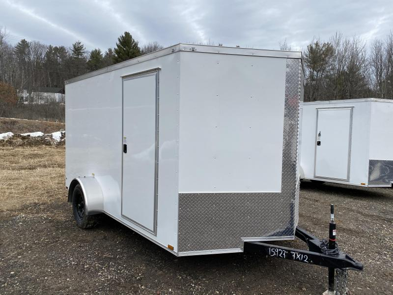 2020 Quality Cargo 7x12 BRAKES BLACK WHEELS & RAMP Enclosed Cargo Trailer