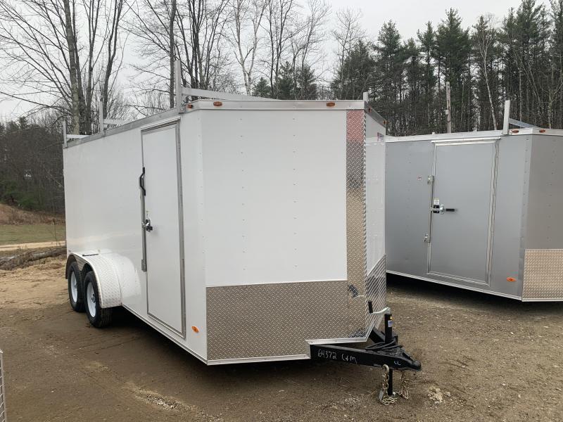 2020 Freedom Trailers 7x16 DOUBLE DOORS LADDER RACKS Enclosed Cargo Trailer