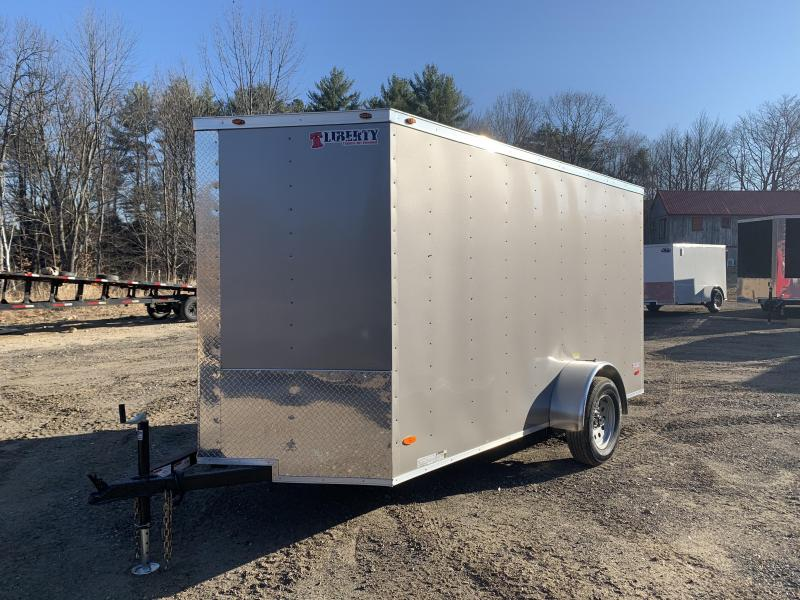 2020 Freedom Trailers 6x12 pewter rear ramp Enclosed Cargo Trailer
