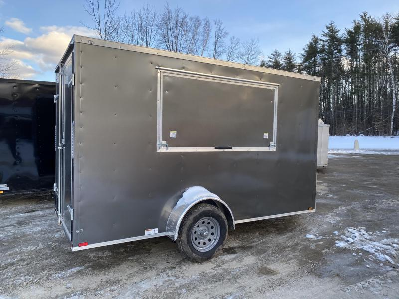2020 Quality Cargo 6x12 CONCESSION WITH DOUBLE DOORS Enclosed Cargo Trailer